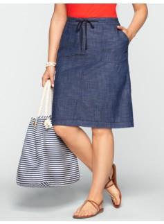 Chambray Utility Skirt