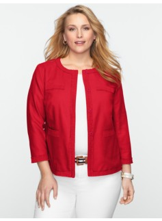 Ruched-Trim Jacket