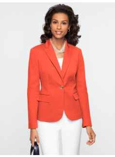 Double-Weave Gold-Button Jacket
