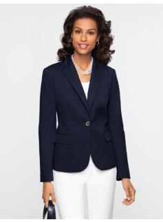 Double-Weave Gold-Button Jacket