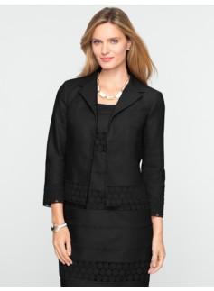Eyelet & Linen Jacket
