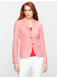 Striped Seersucker Jacket