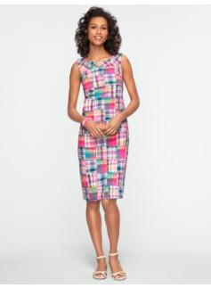 Pink Madras Plaid Dress