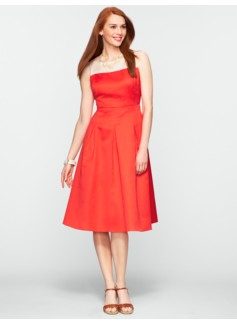 Colorblocked Fit-and-Flare Dress