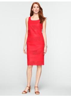 Eyelet & Linen Scoopneck Dress