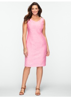 Linen V-Neck Dress