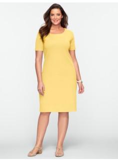 Zip-Shoulder Tee Dress
