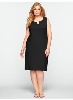Notched-Scoopneck Dress