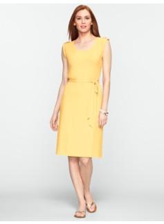Button-Tab Shoulder Dress