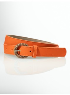 Bamboo-Wrapped Buckle Belt