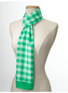 Gingham-Check Scarf