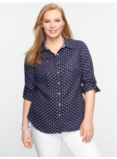 Fun Dots Cross-Dyed Linen Shirt