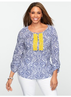 Beaded Paisley Top