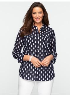 Pineapple Print Cotton Shirt