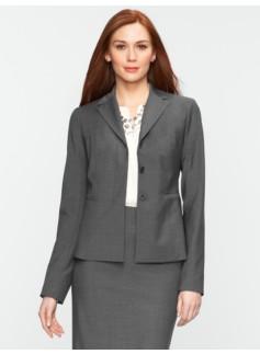 Seasonless Wool Hidden-Placket Jacket