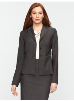 Seasonless Wool Hidden-Placket Jacket