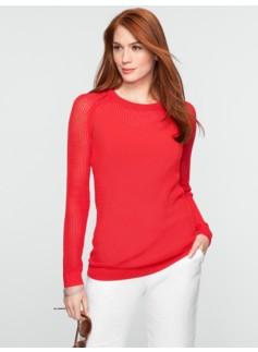 Open Box-Stitched Sweater