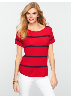 Striped Drop-Shoulder Sweater