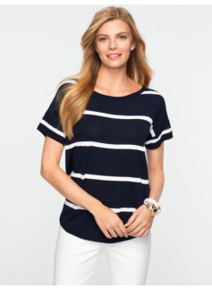 Striped Drop-Shoulder Sweater