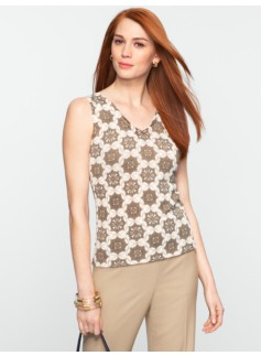 Circle & Flower Tile Sweater