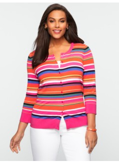 Multi-Stripe Charming Cardigan