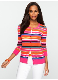 Multi-Stripe Charming Cardigan