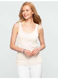 Slub-Knit Sweater Shell