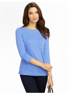 Pima Cotton Bateau Neck Tee