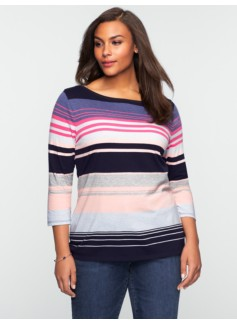 Mixed-Stripe Tee