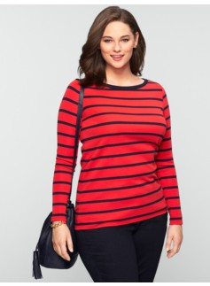 Weekend Cotton Graphic Stripes Tee