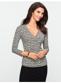 Classic Jersey Abstract-Houndstooth Top