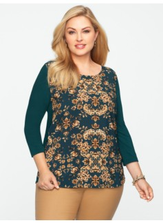 Tapestry Scroll Top
