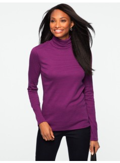 Pima Cotton City Stripes Turtleneck