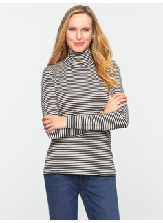 Striped Cotton Turtleneck