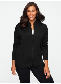 Quilted Stretch Weekend Terry Zip Jacket