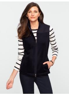 Quilted Nylon & Fleece Vest