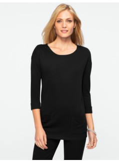 Double-Faced Patch-Pocket Top