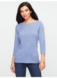 Pima Cotton Boatneck Tee