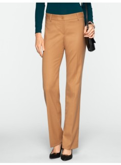Signature Italian Flannel Straight-Leg Pants