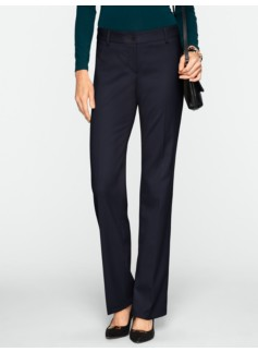 Signature Italian Flannel Straight-Leg Pants