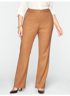 Heritage Italian Flannel Wide-Leg Trousers