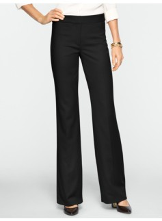 Heritage Italian Flannel Wide-Leg Trousers
