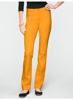 Slimming Signature Peached Sateen Straight-Leg Pants
