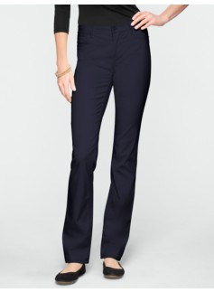 Slimming Signature Peached Sateen Straight-Leg Pants
