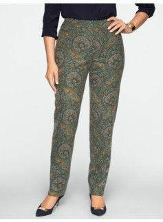 Heritage Paisley Straight-Leg Pants