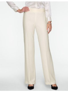 Heritage Seasonless Crepe Pleated Wide-Leg Pant