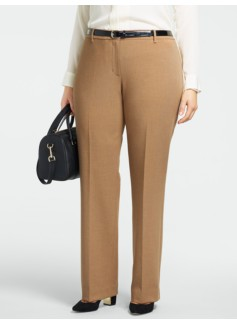Curvy Ultimate Double-Weave Straight-Leg Pants