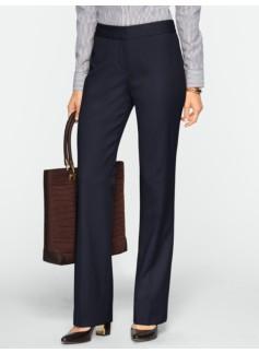 Curvy Italian Flannel Wide-Leg Trousers