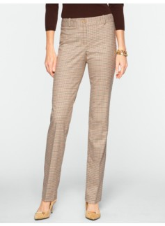 Signature Derby Plaid Straight-Leg Pants
