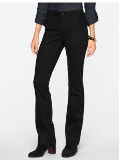 Slimming Curvy Black Bootcut Jeans